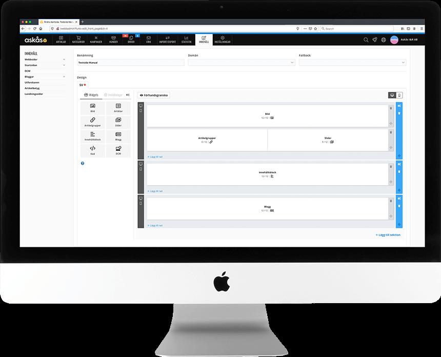 Askås Content Editor kan du ta kontrollen över startsidor och landningssidor