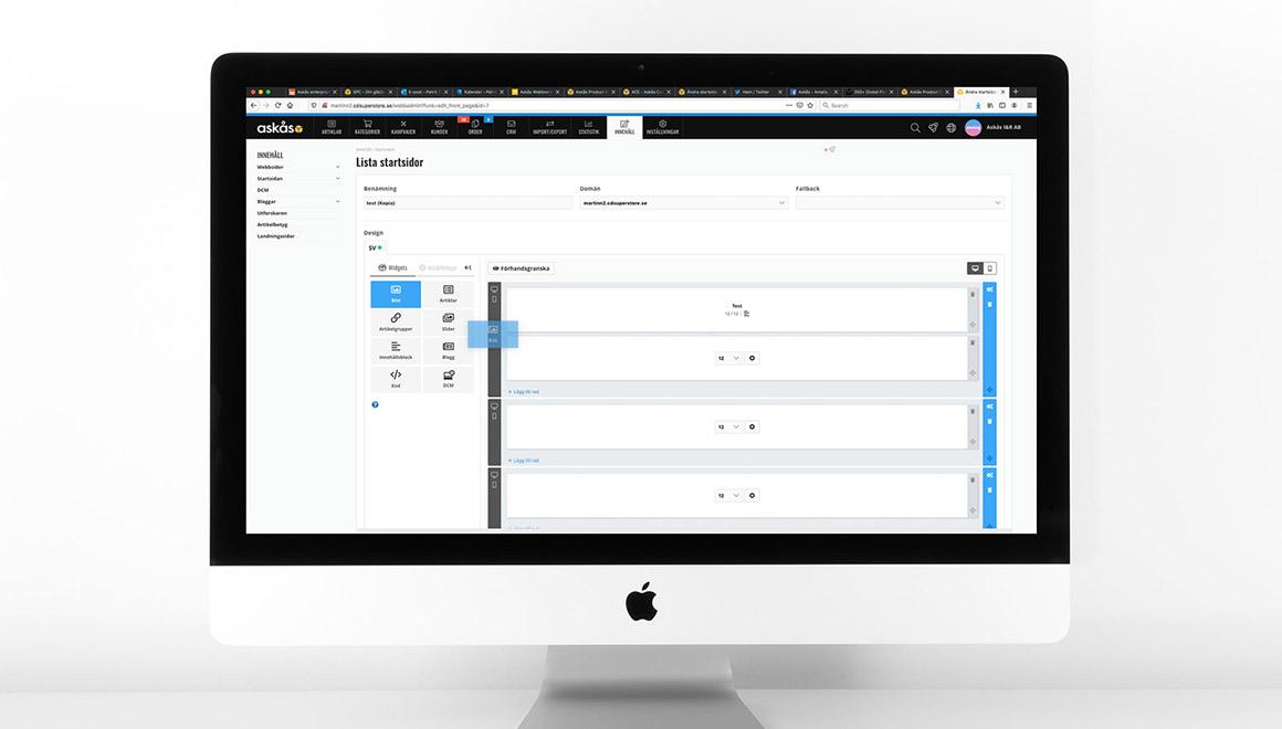 Bygg startstidor med Askås Content Editor