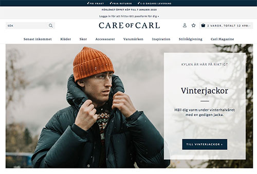 Care of Carl använder Valfritt utlämningsställe