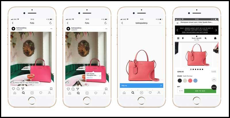 Instagram shopping till Sverige
