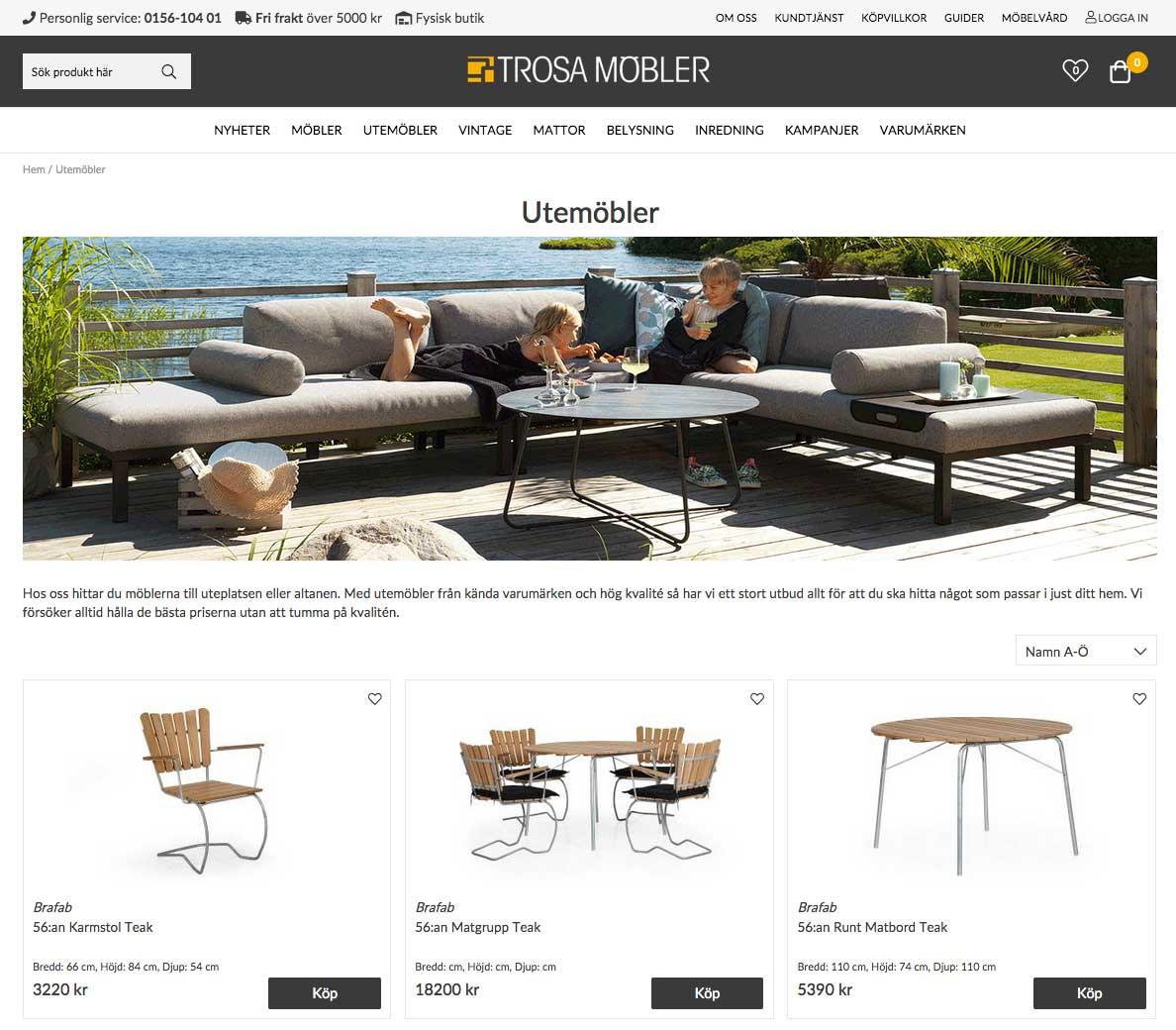 Trosa Möbler - ny e-handel med Askås