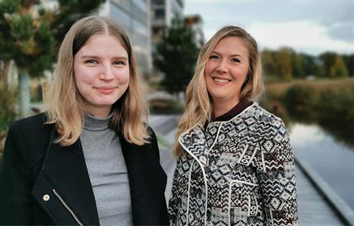 Caroline Lindström och Jennifer Nilsson